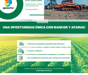 Tasas de BANCOR exclusivas para Socios AFAMAC en Agroactiva